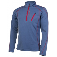 protest HUMANY 1/4 ZIP TOP Blue/Red