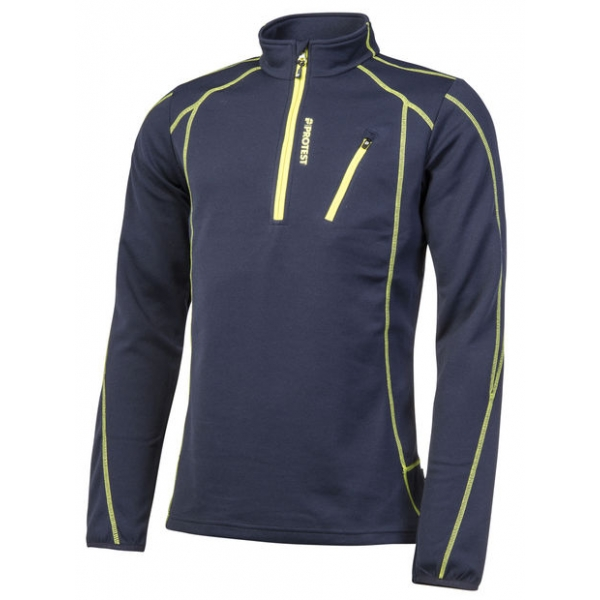 protest HUMANY 1/4 ZIP TOP navy blue